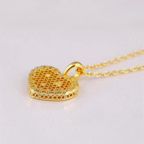 heart honeycomb bee animal pendant choker necklace description