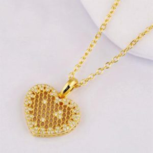 gold bee necklace uk