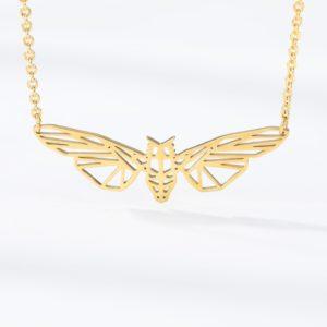 queen bee necklace gold