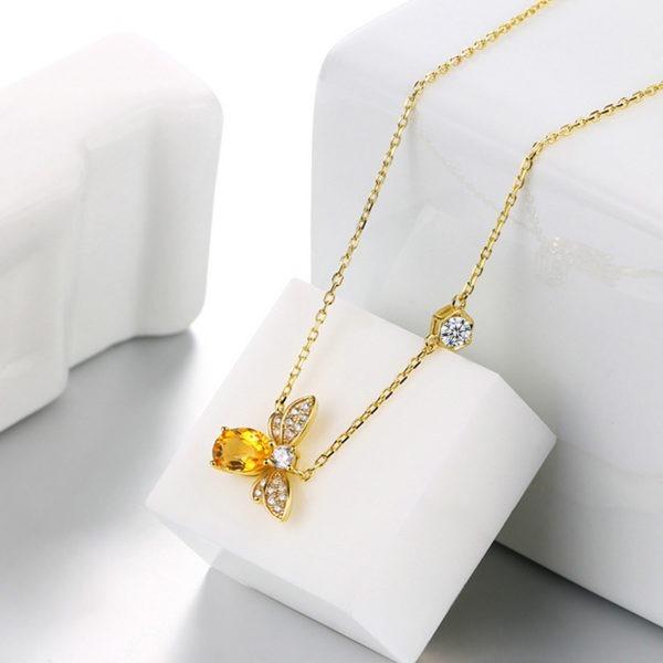 pandora honey bee necklace