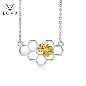 honey bee necklace silver