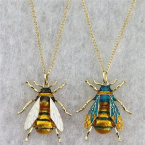 real gold bumble bee necklace